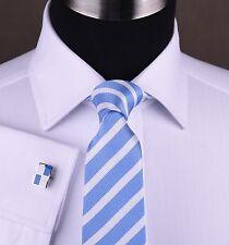 Elegant Classic White Herringbone Business Dress Shirt For Any Occasion