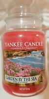 Yankee Candle GARDEN BY THE SEA Large Jar 22 Oz Pink Housewarmer New Wax Floral