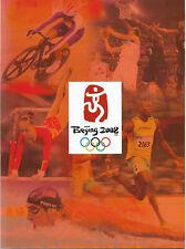 """Libro  """"Beijing 2008""""  le Olimpiadi 2008 in 30 pagine con francobolli- Perfetto"""