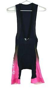 Santic Mens Black Bib Cycling Triathlon Padded Shorts Size S