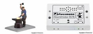 Viessmann H0 1514+5576 Fabbro Con Glühendem Ferro E Passend. Soundmodul Nuovo