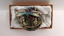 DRAGONFLY Keepsake Jewel Hinged Trinket Ring Box Collectible