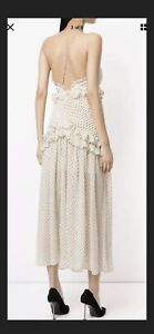 New With Tags Thurley Cream Polka Dot Dress 10