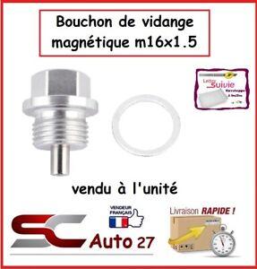 bouchon/ de vidange magnétique couleur alu  auto/moto M16x1.5