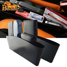 2x Black Catch Catcher Box Car Seat Gap Slit Pocket Storage Organizer Holder Box