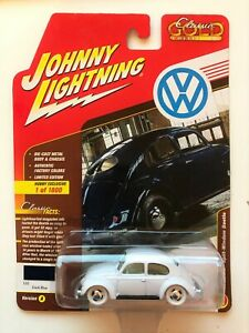 CHASE JOHNNY LIGHTNING 1950 VOLKSWAGEN SPLIT WINDOW BLUE 1/64 DIECAST JLSP007-A