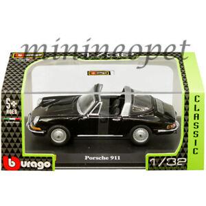 BBURAGO 18-43214 PORSCHE 911 1/32 DIECAST MODEL CAR BLACK