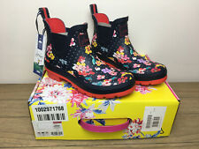 BNWT Joules Wellibobs Size 5 EU 38 Navy Blossom Spot Woman's Boxed