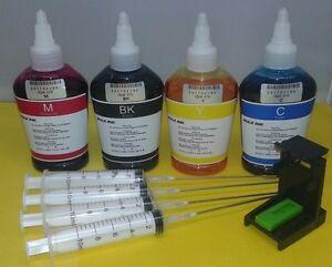 Kit de recarga para cartuchos HP incluye tintas de calidad y herramientas