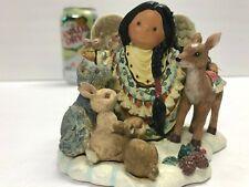 Enesco Friends of the Feather Figurine Tender of Spirits 375489 1998 Angel Deer
