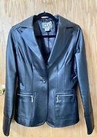 womens leather blazer jacket