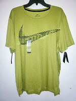 Mens Nike Pro Standard Fit Dri-Fit Green/Black Short Sleeve Athletic T-Shirt New