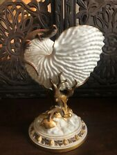 Royal Worcester Porcelain Nautilus Shell Vase