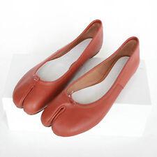 MAISON MARTIN MARGIELA $690 split toe leather shoes tabi ballet flats 41 NEW