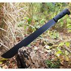 "23"" FIXED BLADE SURVIVAL MACHETE w/ SHEATH Hunting Jungle Knife Sword Tactical"