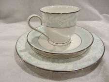 Lenox Debut Collection Charity Tea Cup, Saucer and Salad Plate Light Green