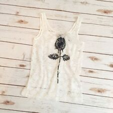 Divided by H&M Sheer Lace Black Rose Tank Top NWT
