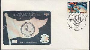 1992 Olympic Baseball FDC Sc2619 St Louis Cardinals Upper Deck Hologram Cachet 2