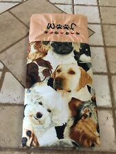 Pet Dog Blanket Multi Embroidered Cotton 31x21x1/4 Inches Denim Back