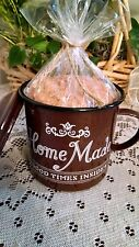Metal Tin Mug Cup Storage Container Candle Holder with Lid  ~ Home Decor