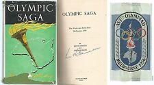 Keith Donald - Olympic Saga - Melbourne 1956  hardback, dust wrapper 1957 signed