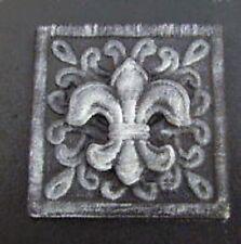 """plaster cement fleur  plastic travertine tile mold 4"""" fancy fleur style"""
