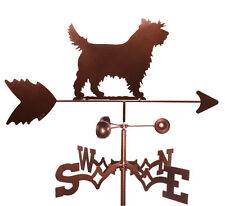 Cairn Terrier Weathervane With Garden Mounting