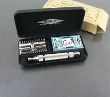 WW2 US Military Contractor Gillette Thin Tech Handle Safety Razor Set 29-R-1035