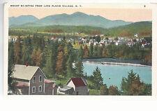 Mount McIntrye  From Lake Placid Village  NY  Unused   Postcard 764