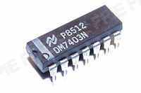 DM7403N Quad 2−In Pos NAND Gate w/Open Collector Out  National Semiconductor