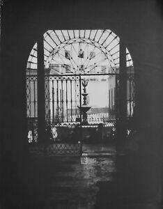 Photograph, Lima, Peru, vintage, 1956, silver gelatin, b/w courtyard