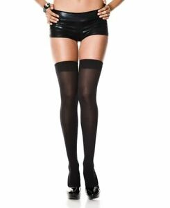 One Pair of New Music Legs 4745 Opaque Thigh High Stockings