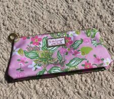 Lilly Pulitzer for Estee Lauder Rare Pink Floral Cosmetic Makeup Bag New