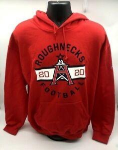 Men's Red Houston Roughnecks XFL Football Hoodie Size L