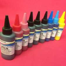 9x 100ml PIGMENT REFILL INK BOTTLES FOR EPSON STYLUS PHOTO R3880 R 3880 PRINTER