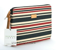 """Greene + Gray Canvas Sleeve Case Cover for MacBook Air 11"""" w/Retina Stripe Used"""