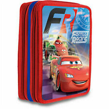 Disney PIXAR CARS - Double Pencil Case with Accessories / Stationery