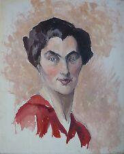 Maud GERARD (1915-2013) Huile sur carton / Ecole belge / 1931 / Fauviste Fauvist