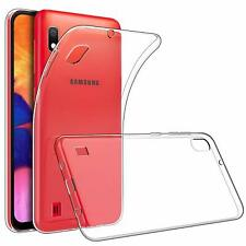 For Samsung Galaxy A10 Case Clear Silicone Slim Gel Cover & Stylus Pen