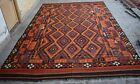 9'9 x 15'7 ft Handmade afghan tribal maimana wool persian palace size kilim rug