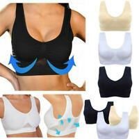 Women Ladies Air Permeable Bra Sport Cooling Summer Sport Yoga Wireless Bra New