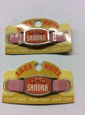 """2 compañeros de encaje """"Sandra"""" (zapato o pulsera bisutería forma) Fiesta Favores de gastos de envío gratis"""