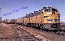 Union Pacific E9 diesel locomotive passenger train railroad postcard  *372