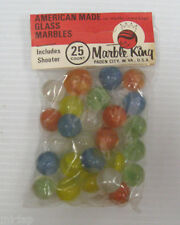 MARBLE KING Cats Eye marbles 1 unopened sealed package of 25 marbles.