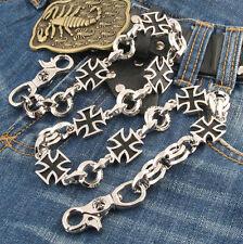 Heavy Multi Iron Cross Trucker Rocker Biker Keychain Key Jean Wallet Chain NCS95
