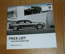 BMW 7 Series Price List 2009 740i 750i 760i 730d 740d SE / M Sport