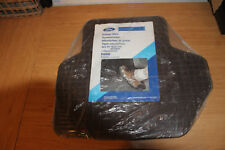 NEW PAIR RARE RUBBER MATS GENUINE FORD FIESTA 3/ 89 ON REAR. CHOCOLATE BROWN.