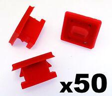 50x BMW Dashboard Trim Strip Grommet. Red Clips for Dash Insert. E46 E83 E65 E66