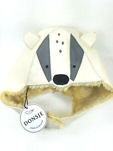 Donsje Amsterdam Racoon Hat  S - Handmade - Premium brushed nubuck