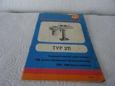 Bedienungsanweisung für Heizgerät Typ 211 (Sirokko)-1985